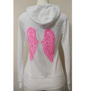 Victoria secret angel white hoodie with sequin
